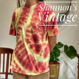 Supreme x Hanes custom tie dye med shirt A45